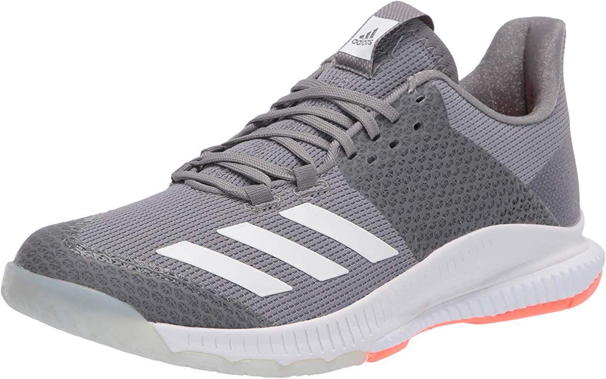 Amazon Com Adidas Women S Crazyflight Bounce 3 Volleyball Shoe Grey Ftwr White Signal Coral 5 M Us Volleyball In 2020 Volleyball Shoes