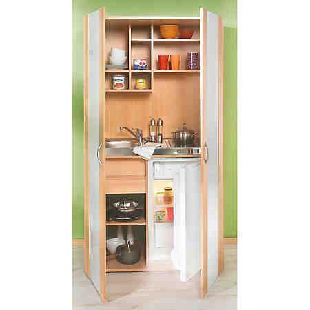 Schrankküche, mit Kühlschrank und Duo-Kochmulde | mini küchen ... | {Schrankküche 8}