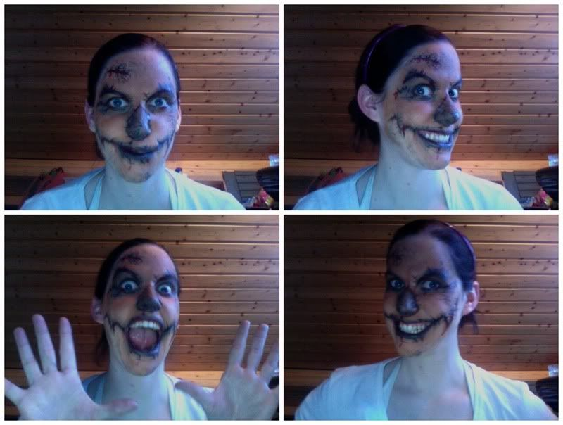 scarecrow halloween makeup | going to post a step by step ...