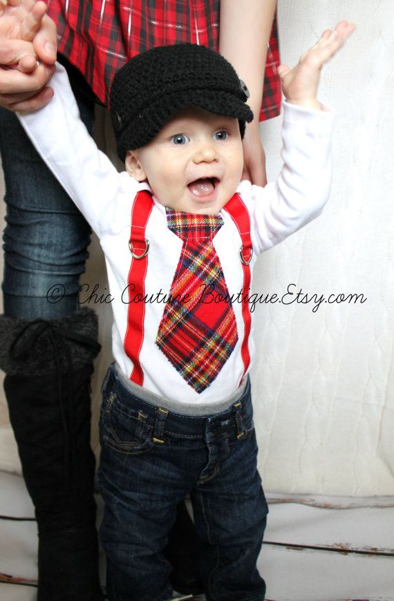 31fc2e49b Baby Boy Tie Bodysuit and Suspenders. Sweet Birthday Outfit Cake ...