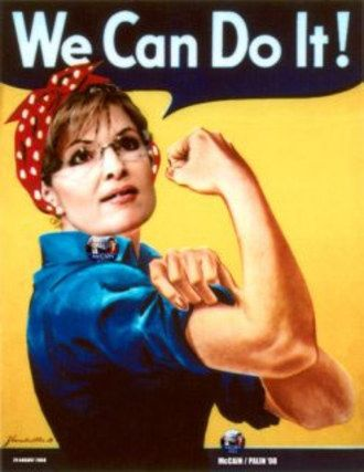 Image result for sarah palin rosie riveter
