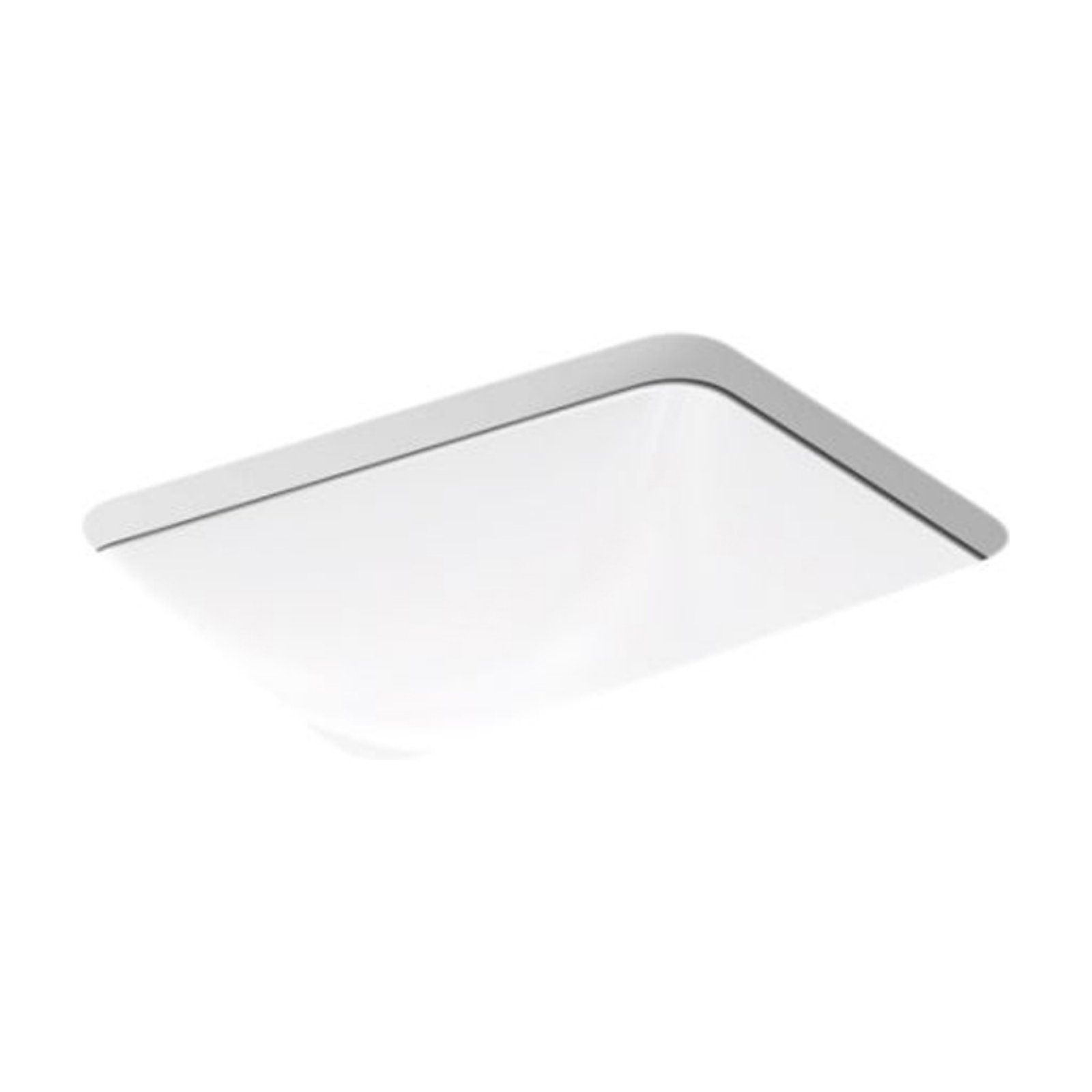 Kohler Caxton K20000 Rectangle Undermount Bathroom Sink White