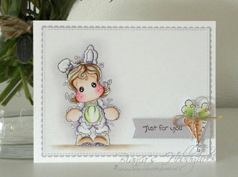 Little miss Tilda Magnolia card. Made by www.biancahobbyhoek.nl