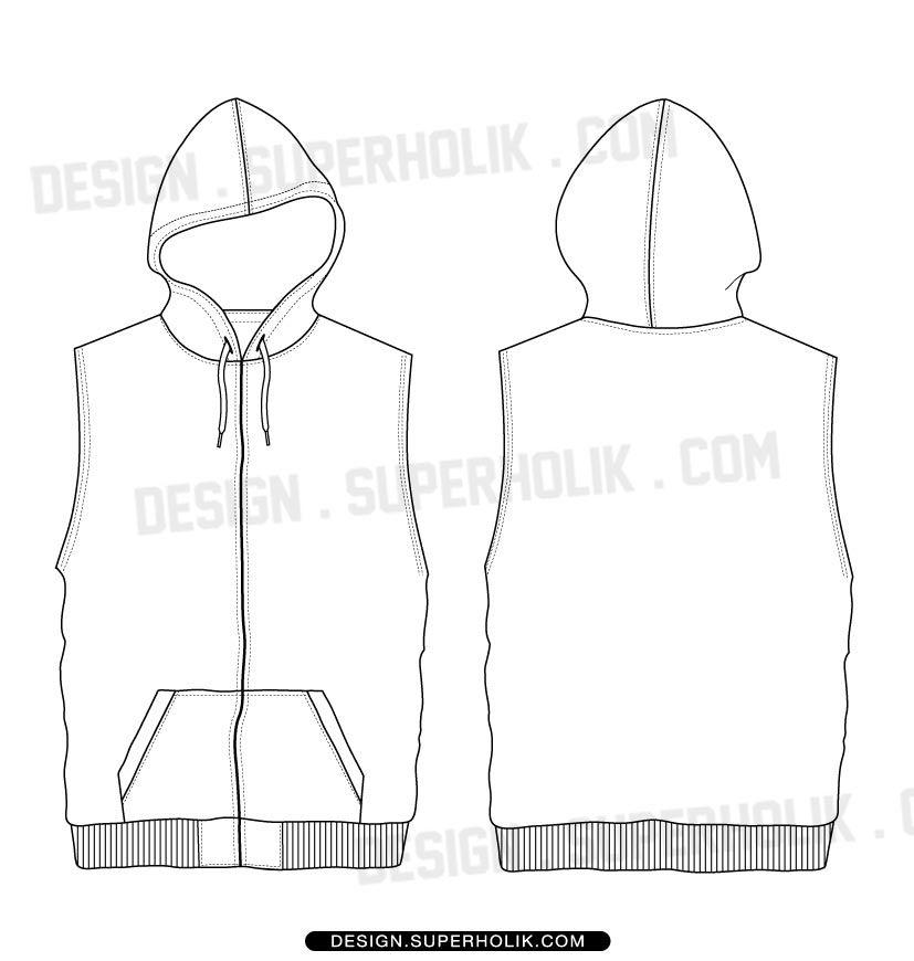 Sleeveless hoodie | Толстовки | Pinterest