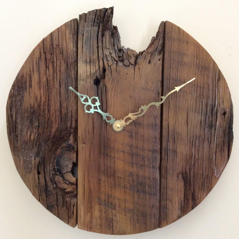 Large wall clock rustic wall clock reclaimed wood clock unique wall clock wood wall clock cool wall clock wood clock wood clocks by funcoolwallclocks