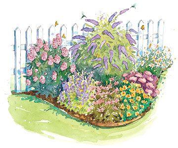 Bird And Butterfly Garden Plan Small Garden Plans Hummingbird Garden Butterfly Garden Design