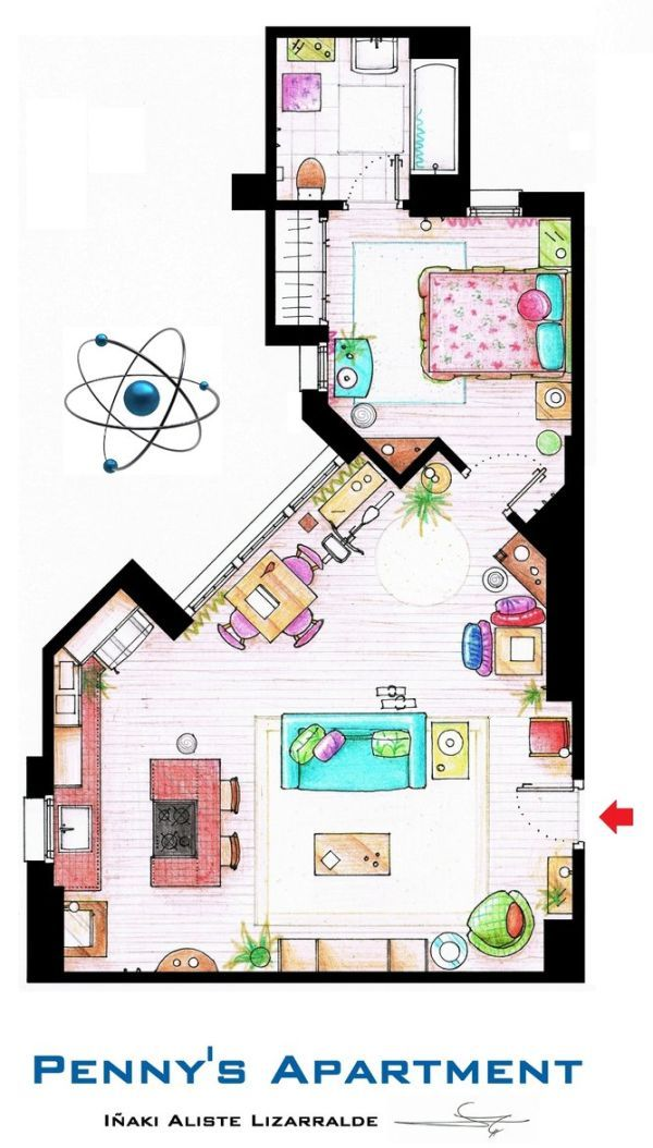 Floor plans for famous television show houses
