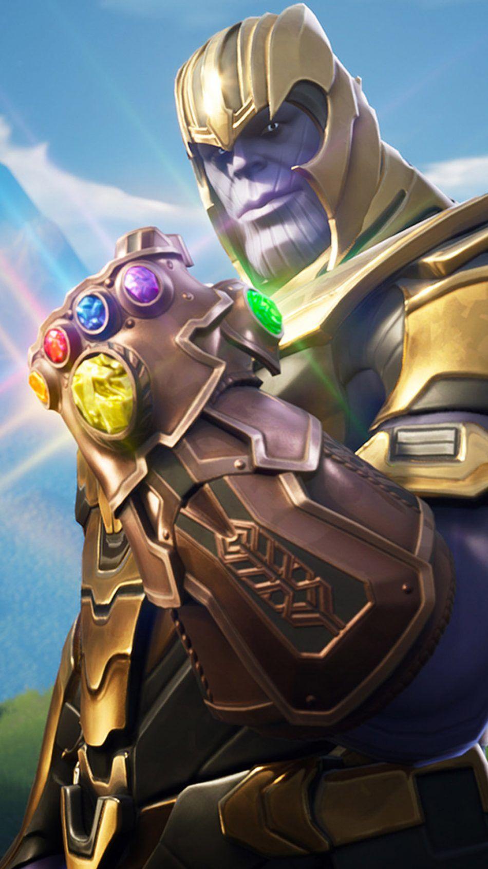 Thanos In Fortnite Battle Royale Superhero Pinterest Mobile