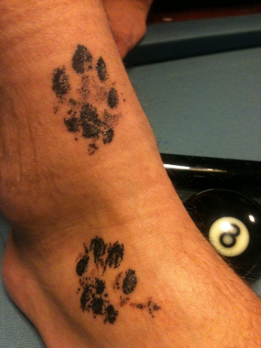 How do I turn my dog's paw print into a tattoo?