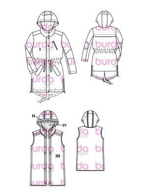 124-012016-B, burda style, Parker, Nähen | Nähen - Muster und Ideen ...