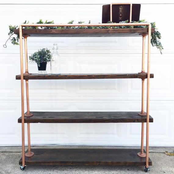 Custom Copper Shelf, Industrial Shelf, Pipe Shelf, Copper Shelving, Copper Storage, Copper Rack, Pipe Shelving
