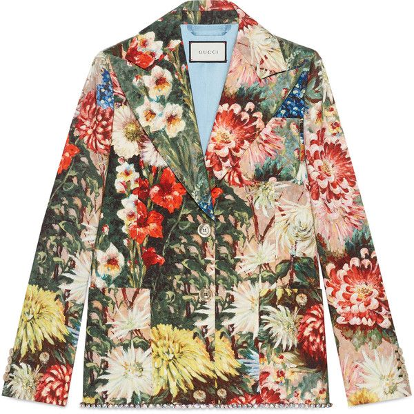 gucci impressionist garden jacket with crystals 3 065 liked on