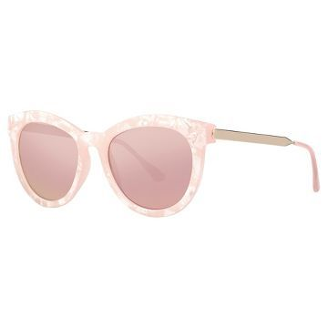a81a239a976e Women s Cateye Sunglasses with Rose Gold Mirror Lenses- Milky Pink already  viewed