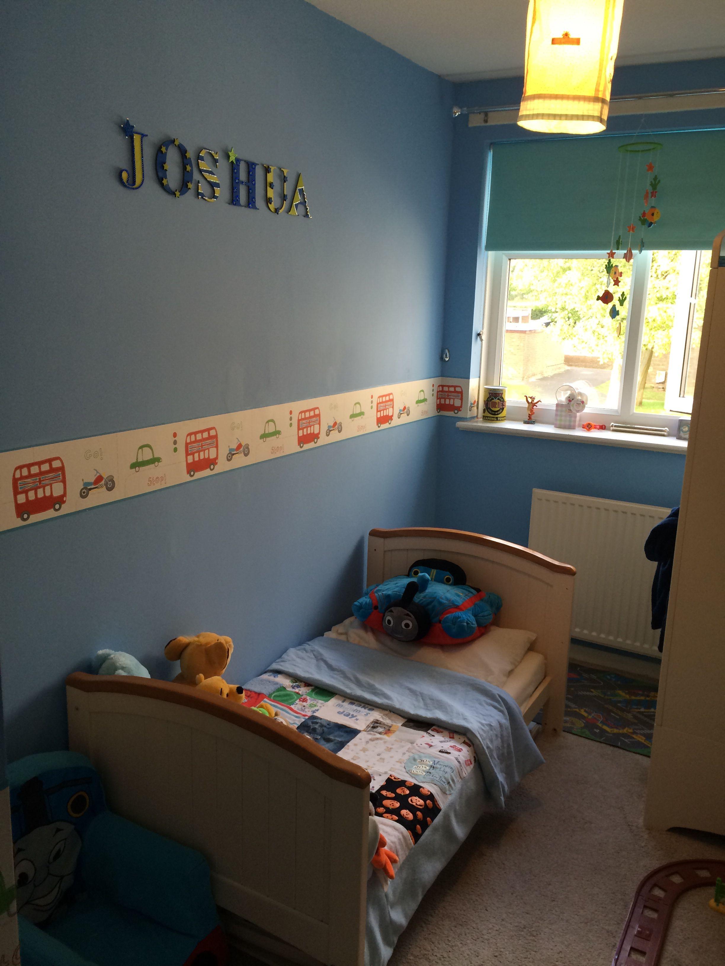 Best Toddler Little Boys Room Transport Rush Hour Cars Buses Hoopla Wallpaper Border 400 x 300