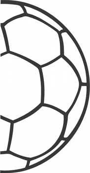 Soccer Ball Half Outline Sports Themed Room Wall Decals Soccer Ball