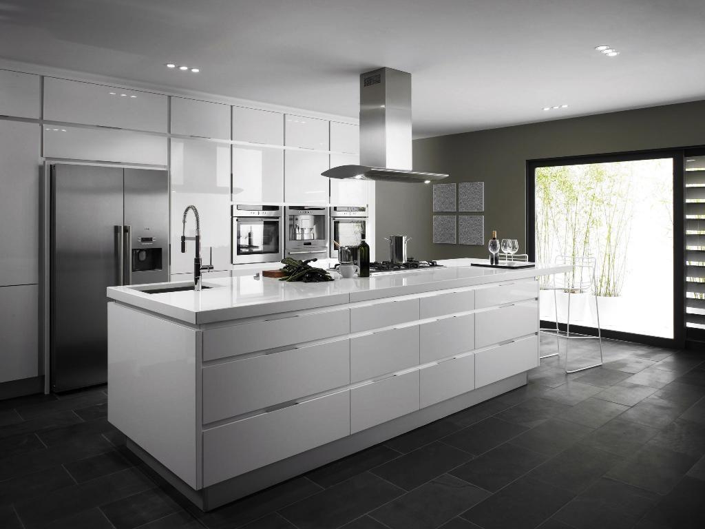 40 Schonen Weissen Luxus Kuche Dekor Ideen Design White Modern Kitchen White Kitchen Dark Floors Contemporary Kitchen