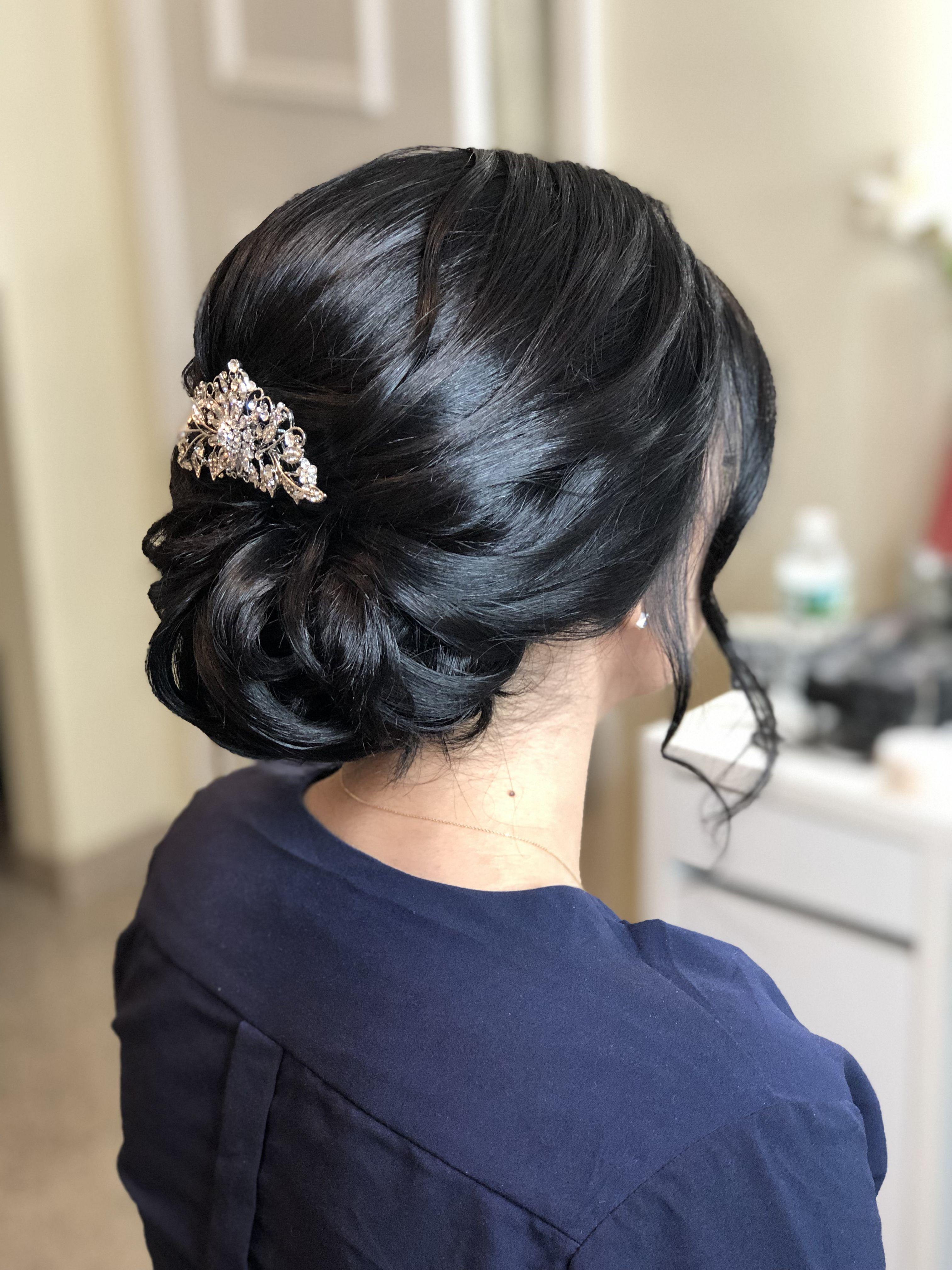 Wedding Updo, hairstyles, updos for long hair, bridesmaid ...