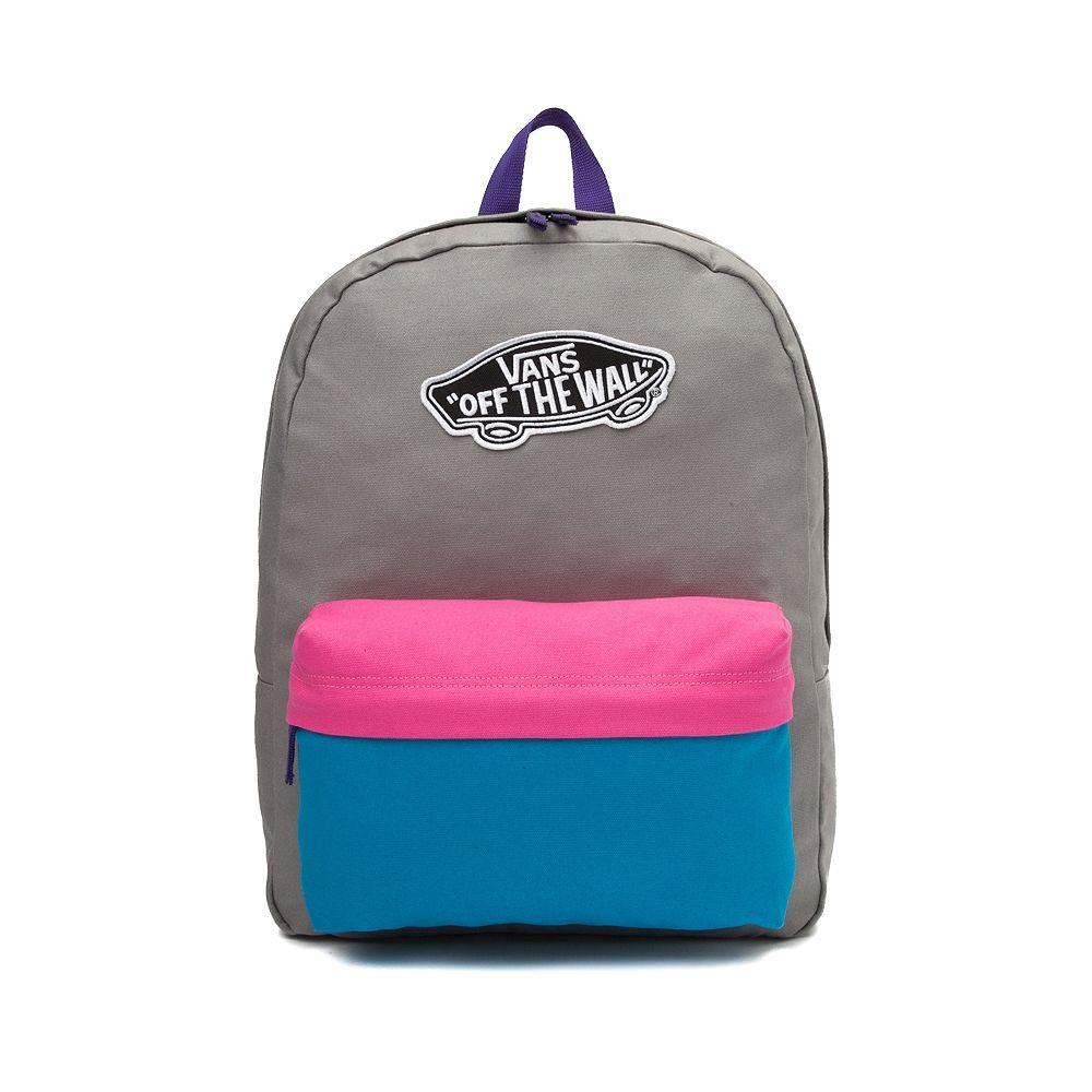 214f569496 VANS Realm Zephyr Colorblock Backpack -Gray Hot Pink Teal- Women s ...