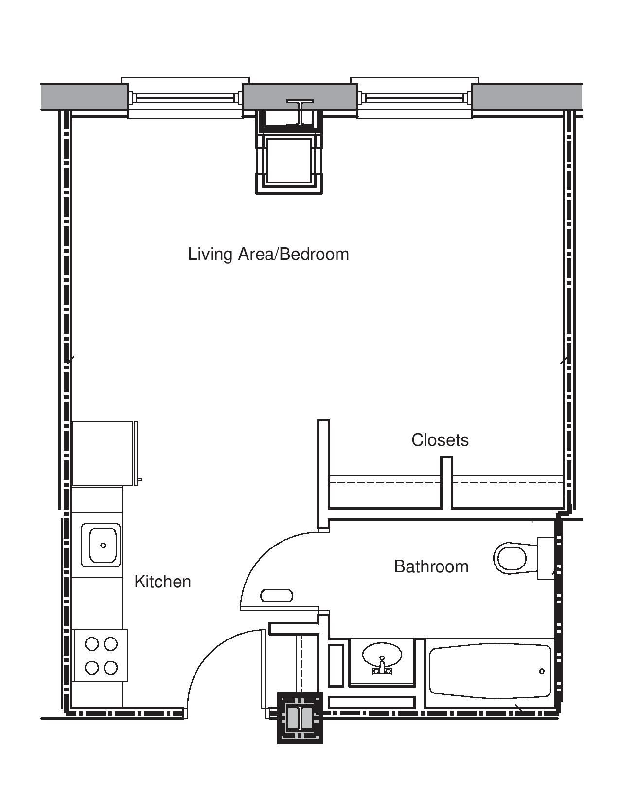 Frugal Studio Apartment Floor Plans Long Beach Ca