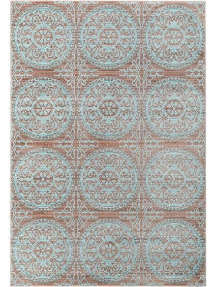 Visconti rug brown turquoise living room brown rug - Brown and turquoise living room rugs ...