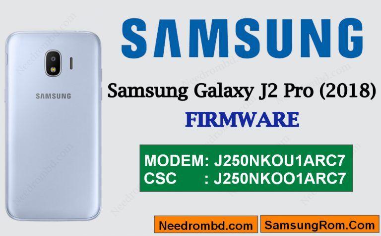 Samsung Galaxy J2 Pro [J250N]-J250NKOU1ARC7 Rom | Smartphone