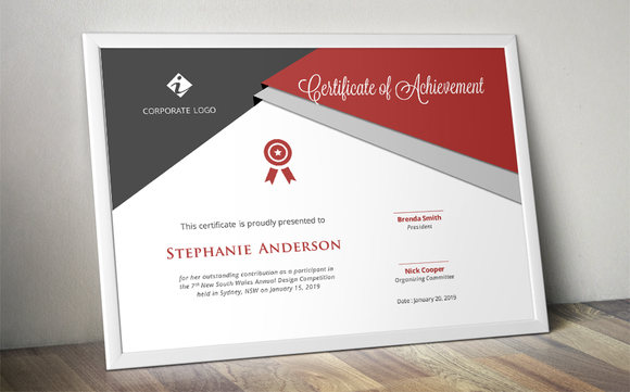 Script Triangle Certificate Design By Inkpower On @creativemarket
