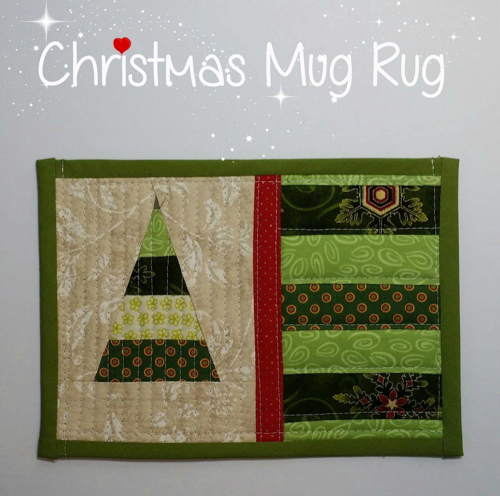 Novice Beginnings: CHRISTMAS MUG RUG | MUG RUGS/POTHOLDERS AND SO ON ...