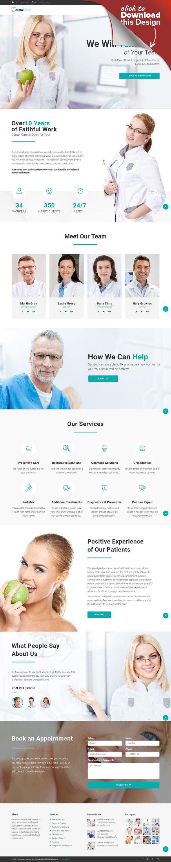 Modello WordPress Responsive #65156 per Un Sito di Odontoiatria ...