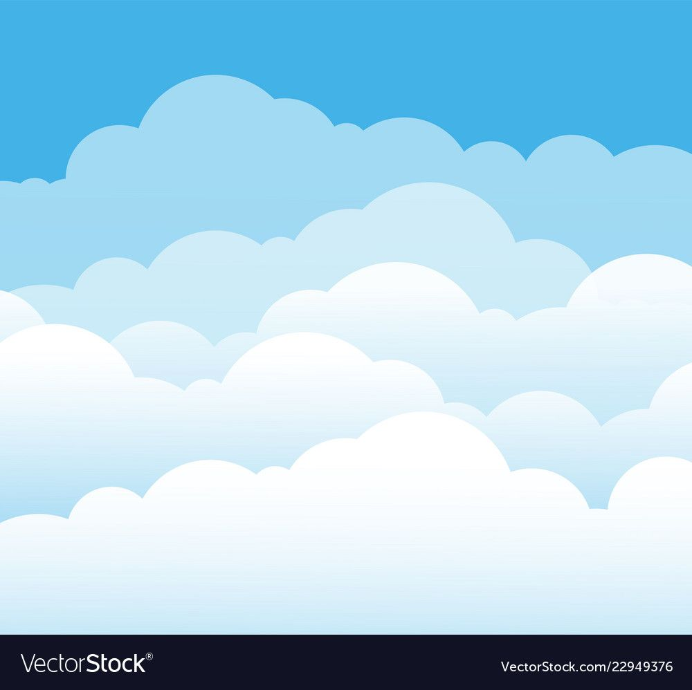 Sky And Clouds Cartoon Cloudy Background Heaven Scene With Blue Sky And White Cloud Vector Illustration Ba Cloud Illustration Sky And Clouds Cartoon Clouds