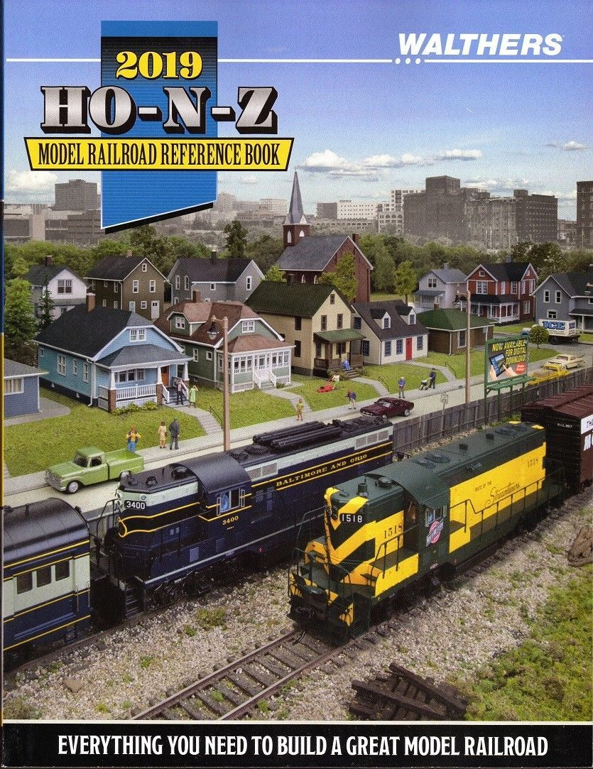 Walthers 2019 HO-N-Z Model Railroad Reference Book 913-219P