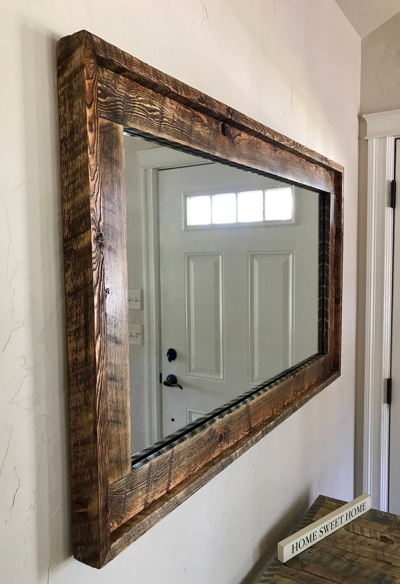 Beautiful Huge Barnwood Mirror The Largest One Weve Made Etsy