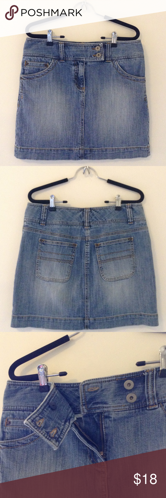 Ann Taylor LOFT denim skirt 99% cotton 1% spandex classic denim mini skirt. LOFT Skirts Mini