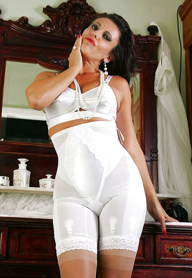 cd2a19f2a3 very horny girdle model Eve.