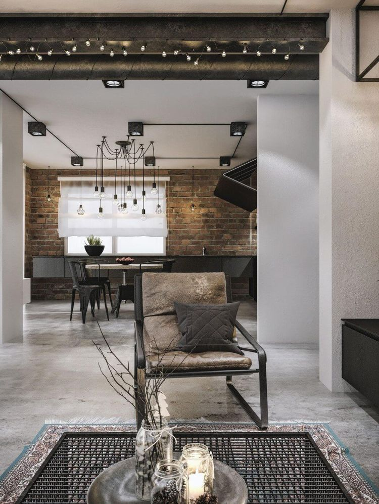 Lighting Loft FurnitureBeautiful Apartment Design With Mid