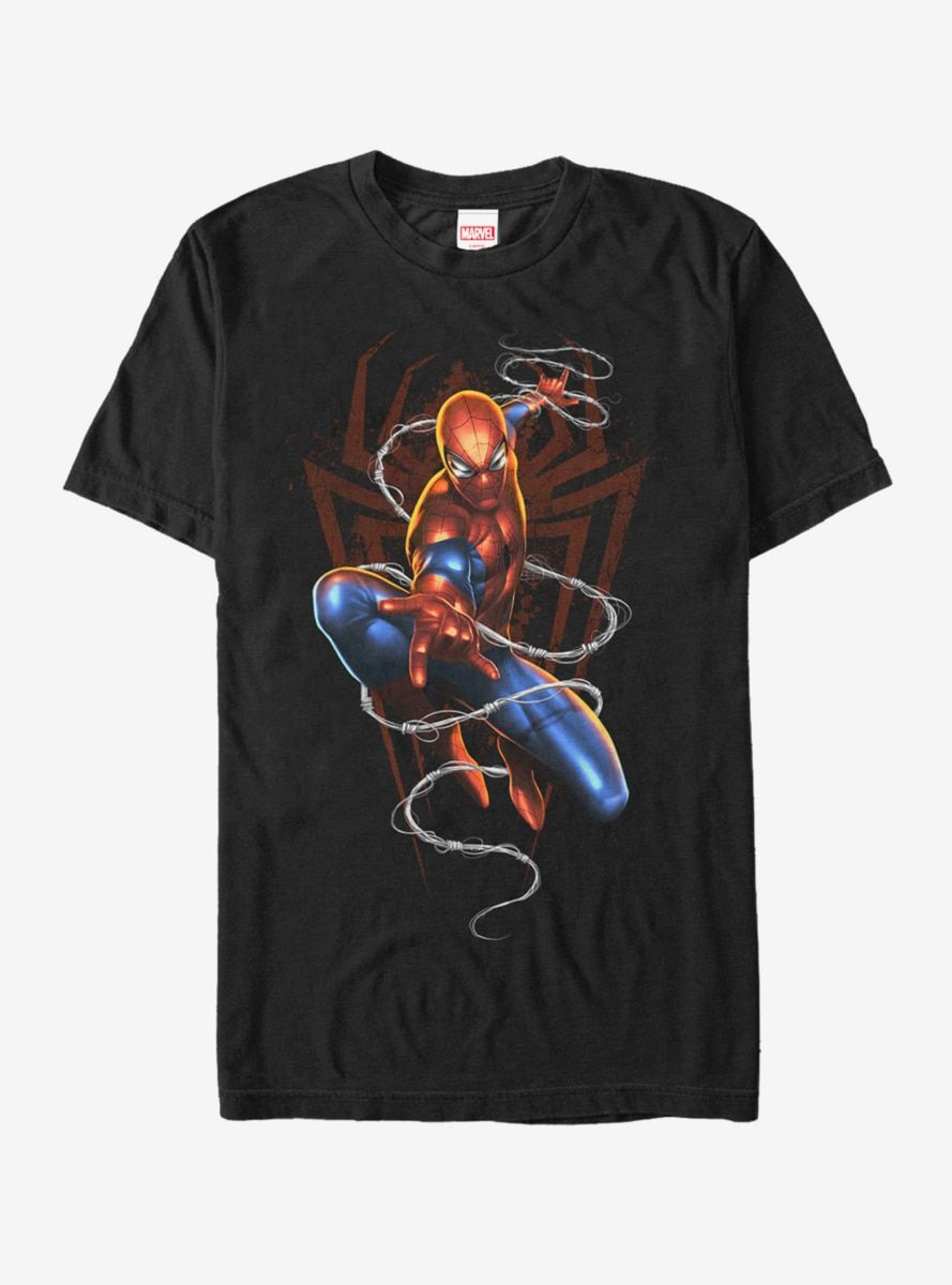983da139 Marvel Spider-Man Web Attack T-Shirt in 2019 | Products | Shirts, T ...