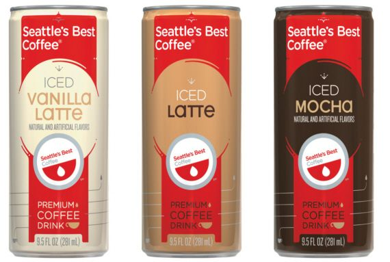 Seattles Best Coffee Iced Canned Lattes