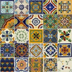 Mexican Decorative Tiles Talavera Mexican Ceramic Tile In 4X4 Tile Sets  Decorazione