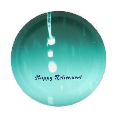 Raindrops- Happy Retirement Paper Plate  sc 1 st  Pinterest & Raindrops- Happy Retirement Paper Plate   Party Paper Plates ...