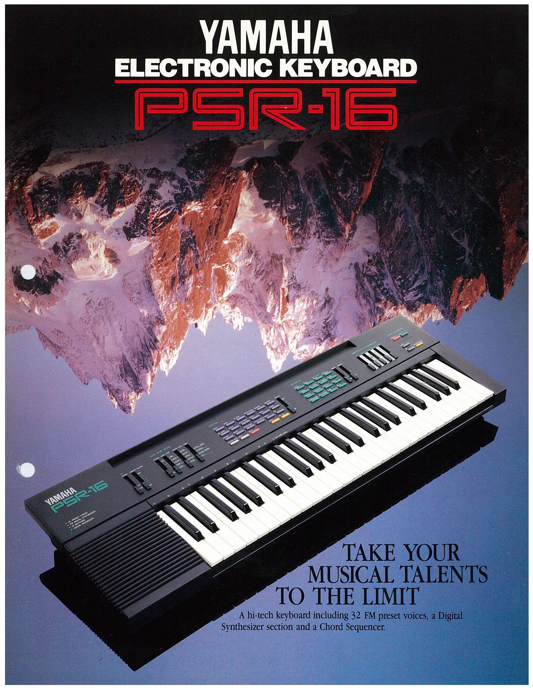 psr 16 synths in 2019 drum machine vintage keys music. Black Bedroom Furniture Sets. Home Design Ideas