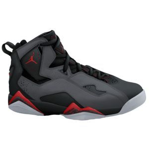 Jordan True Flight - Mens - Black/Gym Red/Anthracite/Wolf Grey from Eastbay  - Inspired by the play of the game's high-flying premier players, the Jordan