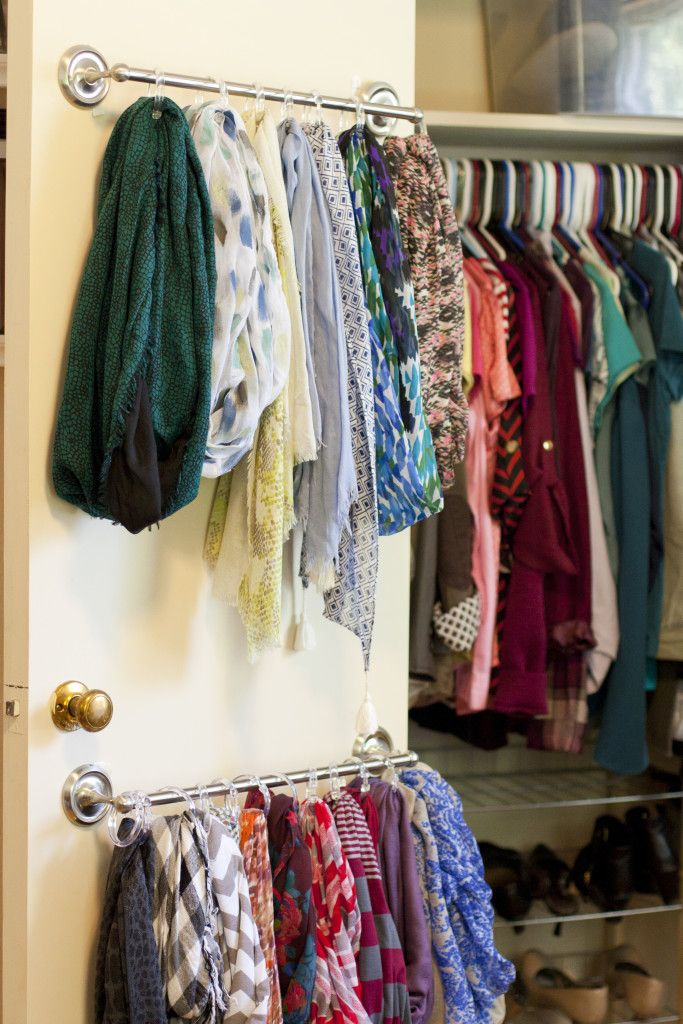 Easy Hanging Scarf Organizer Version 2 In 2020 Scarf