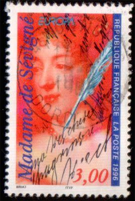 Literary Stamps: Madam de Sévigné (1626 – 1696)