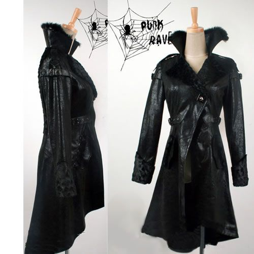 Fashion Long Matrix Jackets Trench Steampunk Black Coats Punk Goth x4fCqtwO
