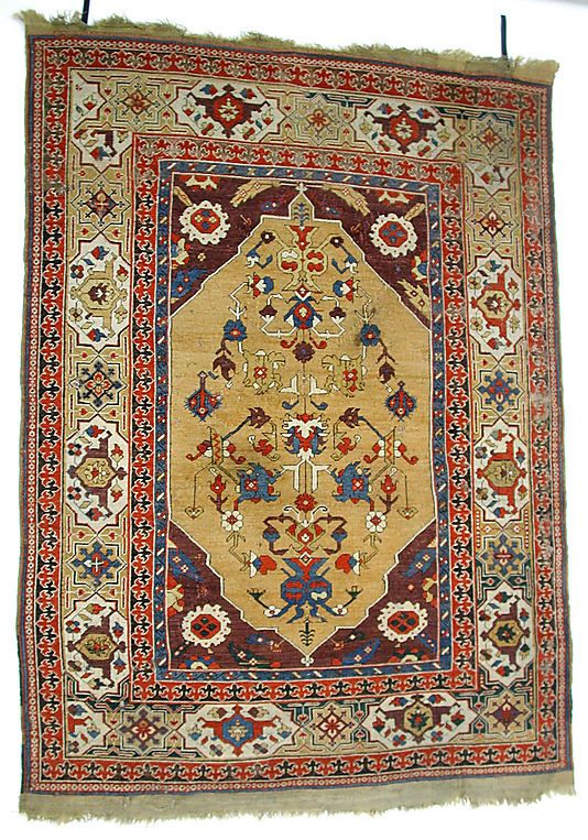 carpet date 17th century geography turkey culture islamic medium wool warp weft and pile symmetrically knotted pile