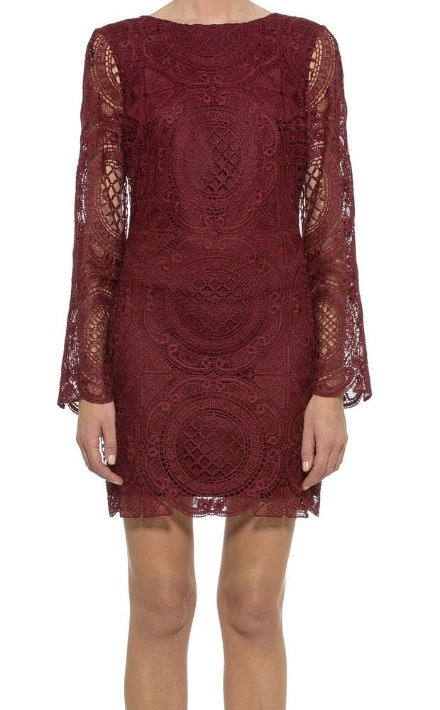 Alexia Admor NEW Red Womens Size Large L Floral Lace Sheath Dress $263 #624 DEAL  | eBay