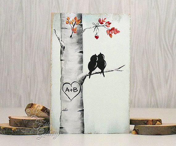 Wedding Gift Paintings: Custom Wedding Gift Decor Rustic Pallet Art Affordable