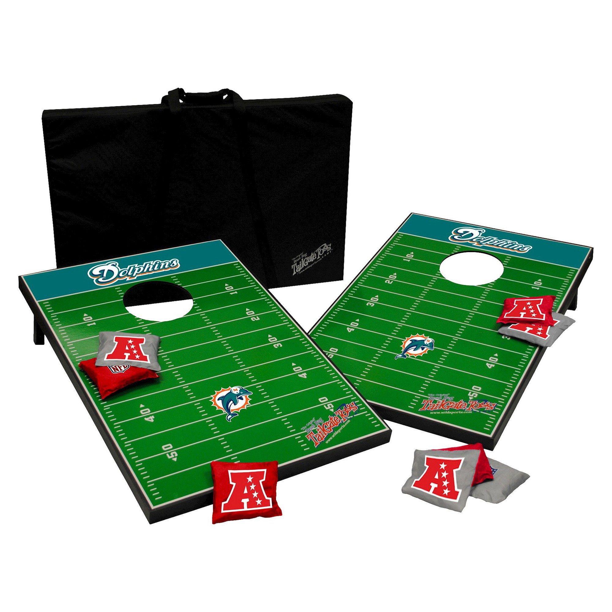 NFL Wild Sports Tailgate Toss 2 x 3 ft. - Miami Dolphins ...