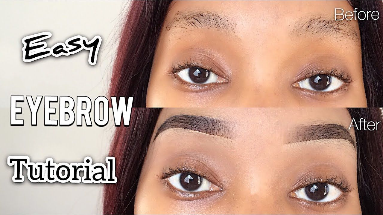 Quick & Easy EYEBROW TUTORIAL + Beginner Friendly (MUST WATCH) � South African YouTuber ��