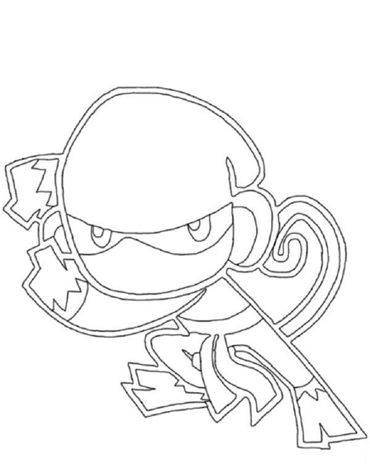 Ninja Monkey Coloring Pages Monkey Coloring Pages Hello Kitty Coloring Coloring Pages