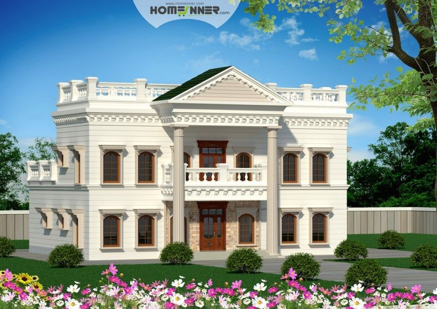 Palladian Style 5 Bedroom House Elevation Bungalow Design Architectural House Plans Architect Design House